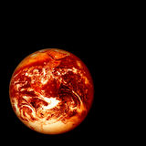 Burning earth Royalty Free Stock Image