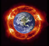 Burning earth Royalty Free Stock Photo