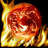 Burning earth fire Royalty Free Stock Images