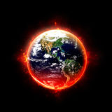 Burning Earth Stock Images