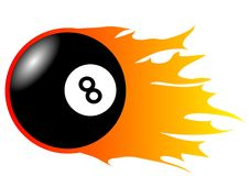 Burning Eight-Ball. This illustration shows an burnining eight-ball vector illustration