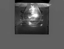 Burning electric lamp Royalty Free Stock Images