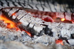 Burning embers Royalty Free Stock Photography