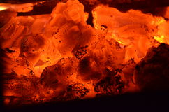 Burning Embers - Glowing Coals Royalty Free Stock Photography
