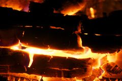Burning Embers Royalty Free Stock Images