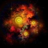 Burning Embers Nebula Royalty Free Stock Image