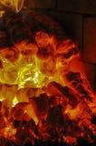 Burning coal in the furnace Stock Image