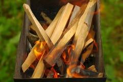Burning en bois Photos stock