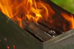 Burning en bois Photo stock