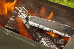 Burning en bois Photo libre de droits