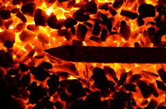 Combustion of coal anthracite of different fractions, generating heat.