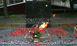 Burning eternal flame in Pyatigorsk. Stock Image