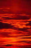 Burning Evening Sky Stock Photos