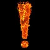 Burning exclamation mark Stock Photo