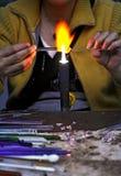 burning exponeringsglas Royaltyfria Foton