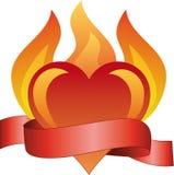 burning förälskelse Arkivbild