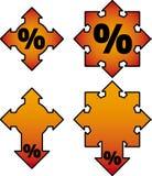burning försäljningsvektor stock illustrationer