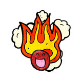burning face symbol Royalty Free Stock Photo