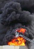 Burning factory. Royalty Free Stock Photos