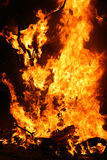 Burning Falla in Valencia. Fire. Royalty Free Stock Photo