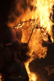burning fallasdiagram enorma valencia royaltyfria bilder