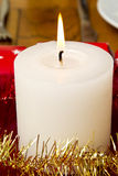 Burning festive candle Royalty Free Stock Photography