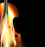 Burning fiddle Royalty Free Stock Image
