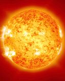 Burning and fiery sun Royalty Free Stock Photography