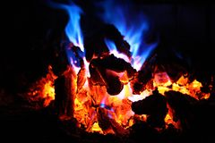 Burning fire Stock Photography
