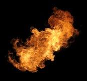 Burning fire. Colorful orange burning fire with black background Royalty Free Stock Photo