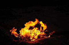 Burning fire Royalty Free Stock Photography
