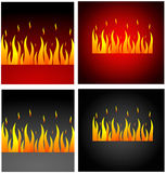 Burning fire Stock Images