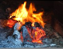 Burning fire Royalty Free Stock Photos