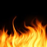 Burning fire background Stock Photos