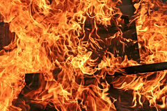 Burning fire background Royalty Free Stock Photos