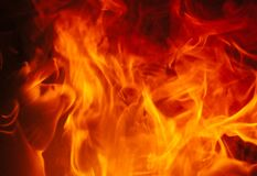 Burning Fire Background Texture Royalty Free Stock Photo
