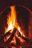 Burning fire Stock Image