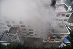 Burning Fire in Building
