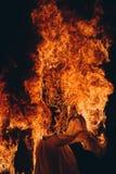 Burning, fire stock photo