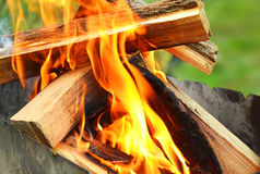 Burning of a fire Royalty Free Stock Image