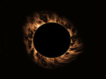 Burning fire eclipse Royalty Free Stock Image