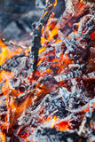 Burning fire and embers Stock Images