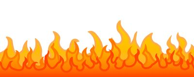 Burning fire flame stock illustration
