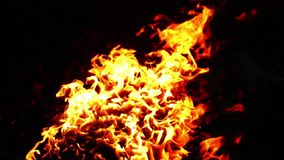 Burning fire flame Stock Image
