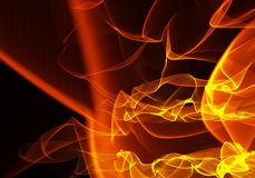 Burning fire flame on black background on big resolution. 3d render concert lights for you project on very high resolution Royalty Free Stock Photo