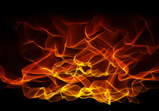 Burning fire flame on black background on big resolution Royalty Free Stock Photos