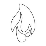 Burning fire flame design graphic line. Vector illustration eps 10 Stock Photography