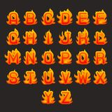 Burning fire flame hot alphabet a to z font design vector illustration. Burning fire flame hot alphabet a to z design font vector illustration royalty free illustration