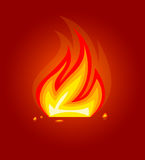 Burning fire flame icon. Burning fire flame in fireplace icon  vector illustration Royalty Free Stock Image