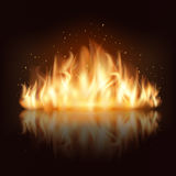 Burning fire flame vector. Burning fire flame. Burn and hot, warm and heat, energy flammable, flaming vector illustration Royalty Free Stock Photos